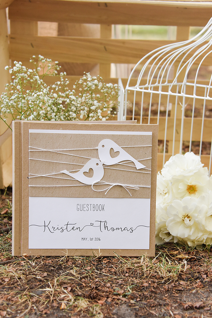 wedding rustic guest book