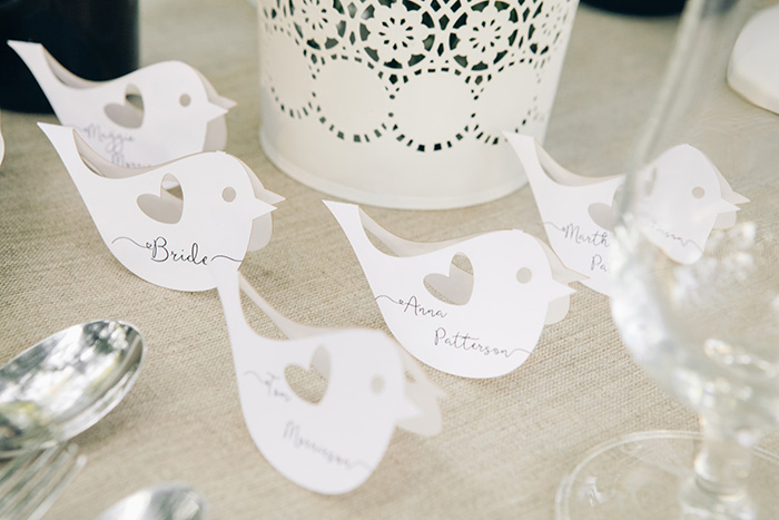 place cards birds 4lovepolkadots
