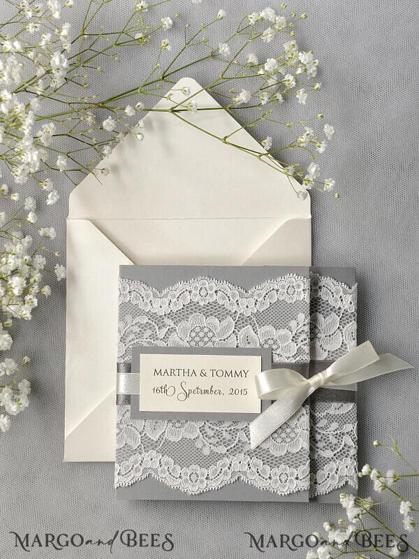Custom Order 130 Wedding Invitations 07/laceWw/z for Amy Lupardi