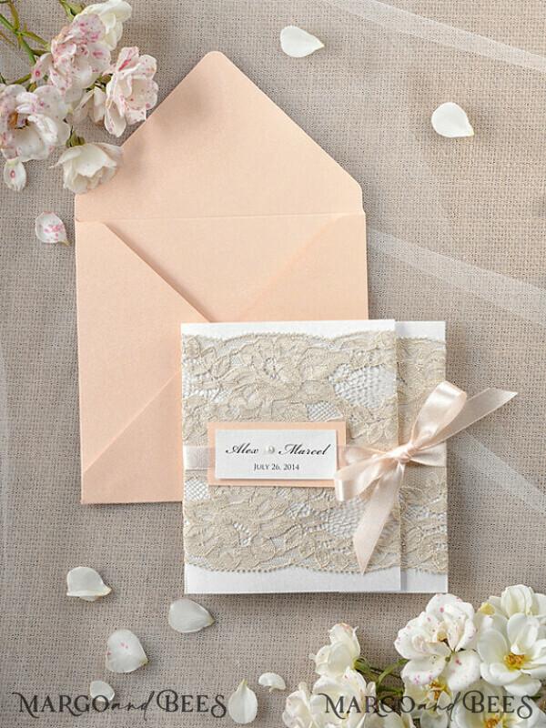 Custom Order 30 Wedding Invitations 46/laceW/z for Catherine