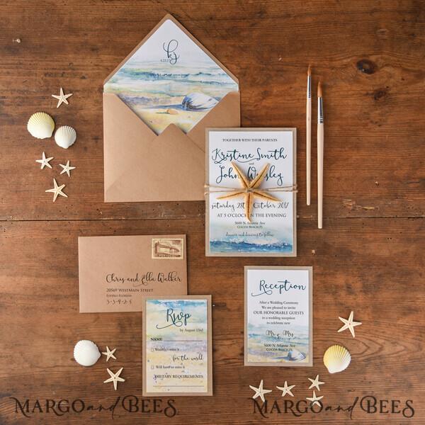 Custom order 40 Wedding Invitations 01/beach/z  for Mrs Carolanne Lake
