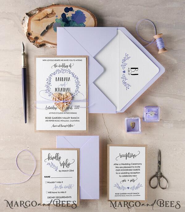 Custom Order 50 Wedding Invitations 003/ACC/In for Stephan & Patrizia