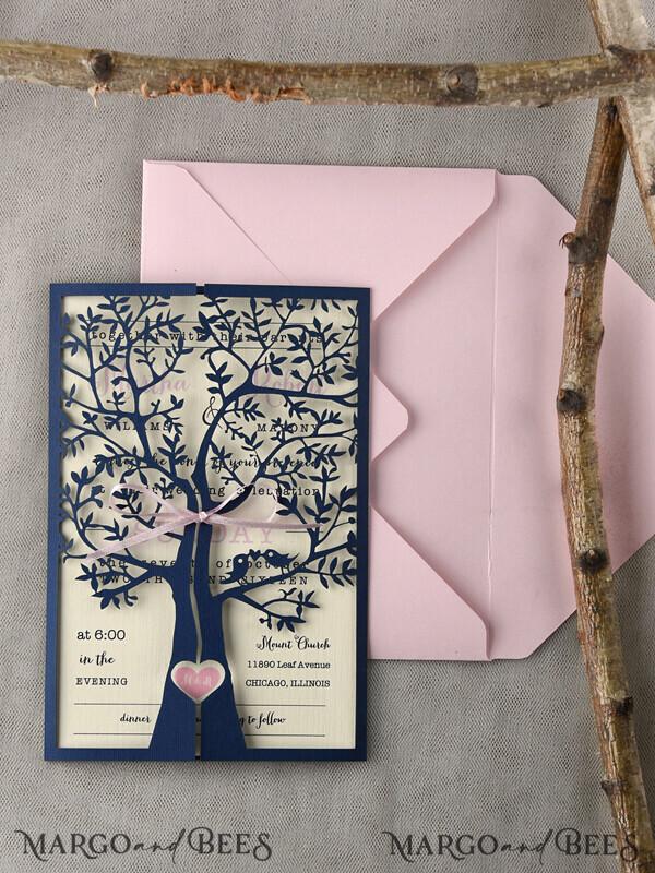 Custom listing 25 Wedding Invitations 02/Ltree/z for Lydia Lambert