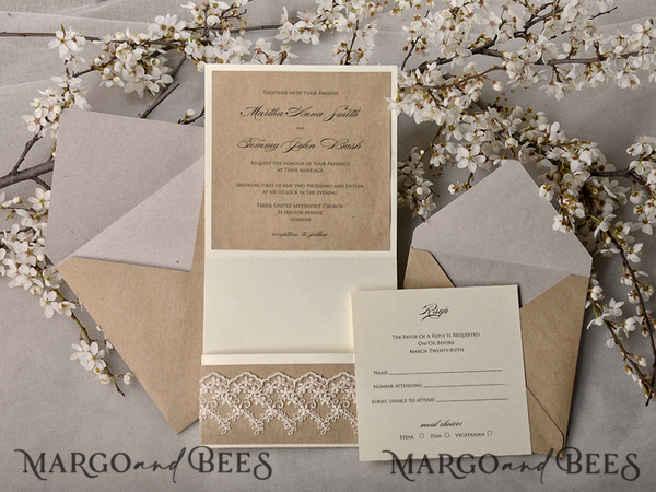 Eco Invitations with additional card for Sandra Howlin 8726