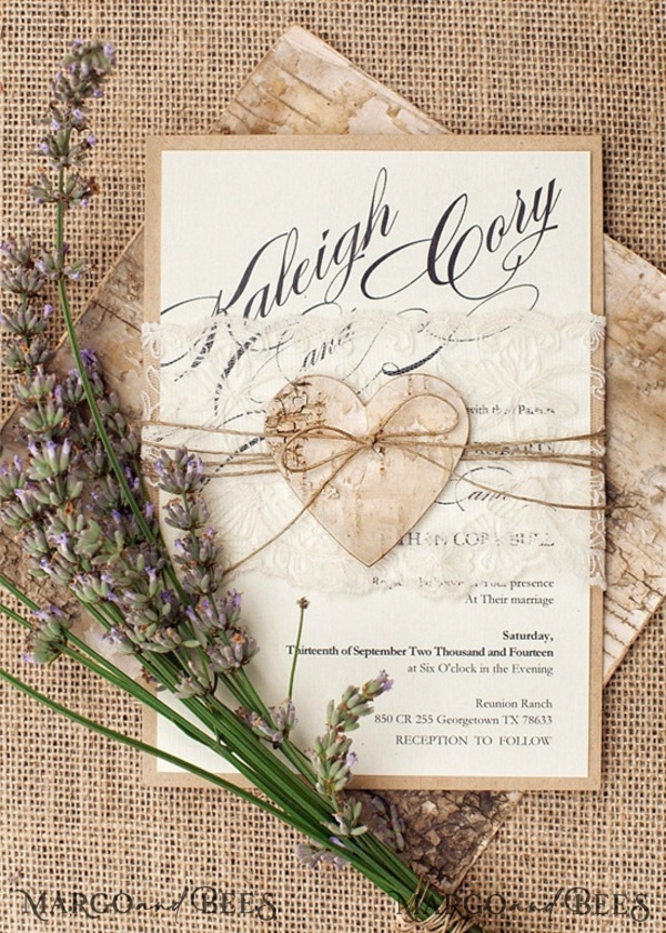 Rustic Wedding Stationery Set for Aly Mullin