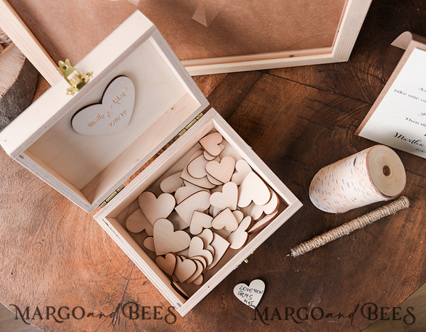 Custom order - 40 extra wooden hearts for Carissa Richard 8881