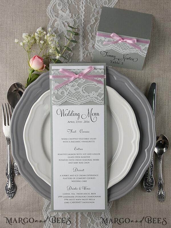 Custom order - EXPRESS 115 wedding programs and 115 menus for Natasha Longley 8216