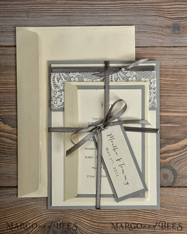 Custom order - 70 invitations and 57 extra inserts and express mode for Ombeline Collin 7186