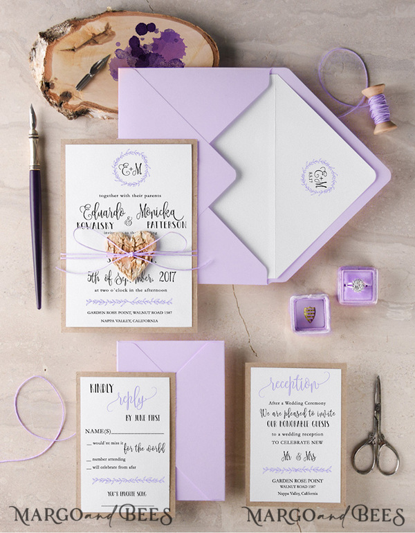 EXPRESS  2 different invitation sets for Jessica Kaminski 8441 / 8762