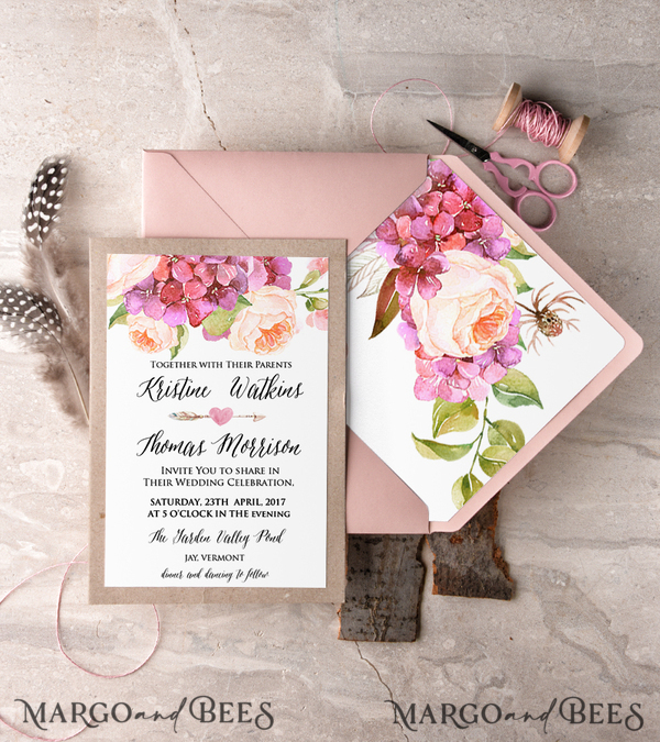 Wedding invitations for Nancy Loi in express mode